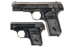 Two Colt Pocket Hammerless Pistols