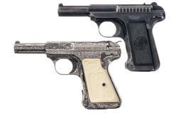 Two Savage Semi-Automatic Pistols