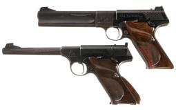 Two Colt Woodsman Semi-Automatic Pistols