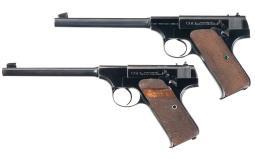 Collector's Lot of Two Colt Rimfire Semi-Automatic Pistols