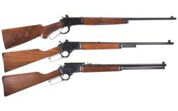 Three Lever Action Rifles