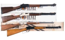 Four Lever Action Longarms