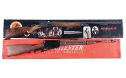 Two Commemorative Winchester Lever Action Long Guns with Boxes
