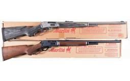 Two Marlin Model 410 Lever Action Shotguns with Boxes
