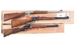 Three Marlin Lever Action Longarms