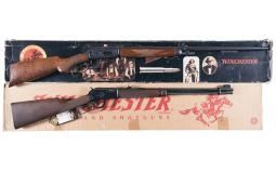 Two Commemorative Winchester Lever Action Rifles with Boxes