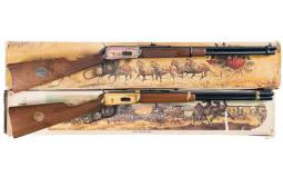 Two Winchester Lever Action Commemorative Carbines with Boxes