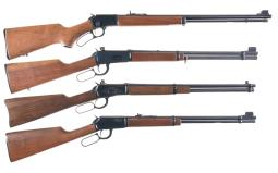 Four Sporting Lever Action Long Guns