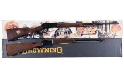 Two NRA Lever Action Sporting Long Guns with Boxes