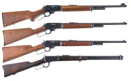 Four Lever Action Long Guns