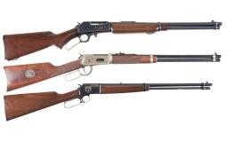 Three Lever Action Carbines
