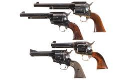 Four Single Action Revolvers