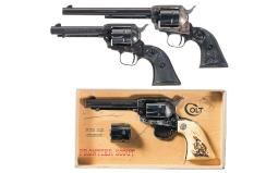 Three Colt Single Action 22 Caliber Revolvers