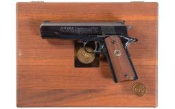 Cased Colt Gold Cup National Match NRA Centennial Pistol