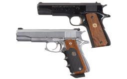 Two Colt Series 70 Government Model Semi-Automatic Pistols