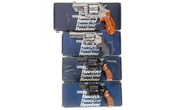 Four Smith & Wesson Double Action Revolvers with Boxes