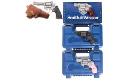 Four Smith & Wesson Double Action Revolvers