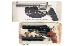 Two Dan Wesson Double Action Revolvers with Boxes