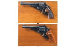 Two Cased Smith & Wesson Double Action Revolvers