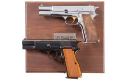 Two Belgian Browning High Power Pistols