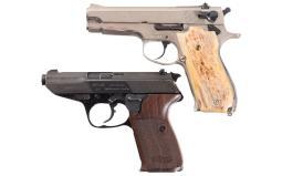 Two Semi-Automatic Pistols -A) Smith & Wesson Model 39-2 Pistol