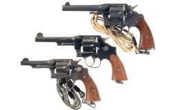 Three U.S. Double Action Revolvers