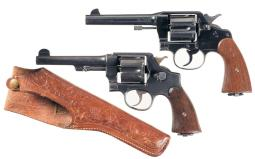 Two U.S. 45 ACP Double Action Revolvers