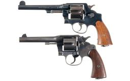 Two U.S. Army Model 1917 Double Action Revolvers