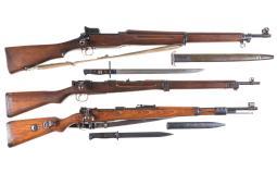 Three Military Bolt Action Rifles