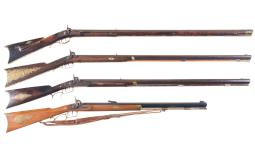 Four Percussion Rifles