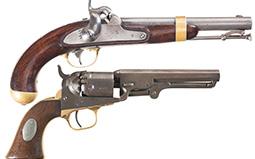 Two Antique Percussion Handguns