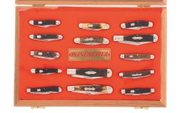 Winchester Cased Set of Fourteen Folding Pocket Knives