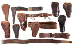 Leather Holsters and Cartridge Belts