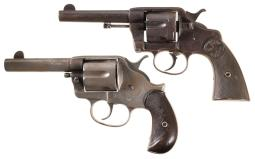 Two Antique Colt Double Action Revolver