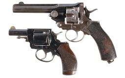 Two English Double Action Revolvers