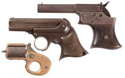 Three Antique Pocket Pistols