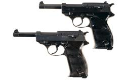 Two German Military P-38 Semi-Automatic Pistols