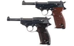 Two Nazi P-38 Pistols, Spreewerke