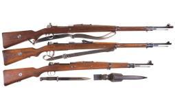 Three Bolt Action Military Rifles