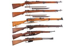 Six Bolt Action Military Longarms