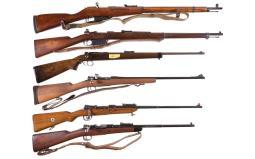 Six Bolt Action Rifles