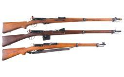 Three Swiss Bolt Action Rifles