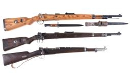 Three Bolt Action Military Rifles