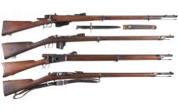 Four Military Bolt Action Rifles