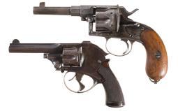 Two Antique European Revolvers