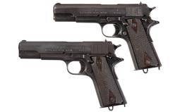 Two Norwegian Model 1914 Semi-Automatic Pistols