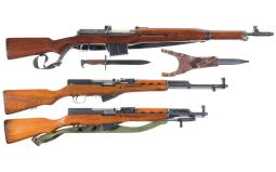 Three Semi-Automatic Longarms