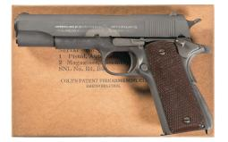 Colt Model 1911A1 Pistol with Extra Magazine and Box