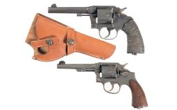 Two Double Action Military Revolvers