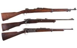 Three U.S. Military Bolt Action Rifles